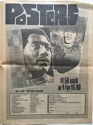 jimi hendrix newspaper/go posters 30/9/68