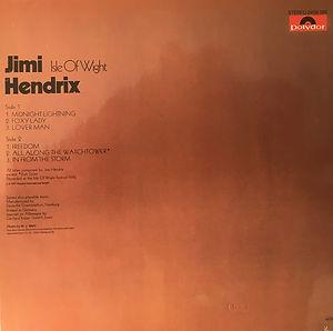 jimi hendrix album vinyl LPs/isle of wight  germany  1980