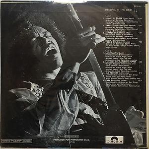 jimi hendrix vinyl album lp/ in the west  argentina 1972