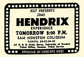 jimi hendrix memorabilia 1969 / ad concert