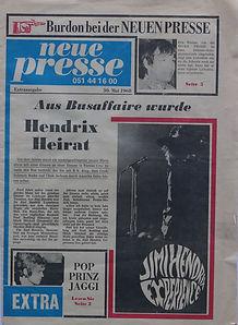 jimi hendrix memorabilia 1968/ program may 30/31 1968