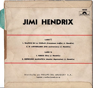 jimi hendrix collector EP vinyls 45r/EP crosstown traffic 51st anniversary/fire/manic depression polydor uruguay 1969