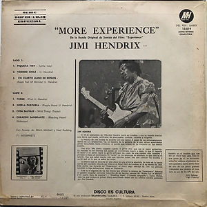 jimi hendrix album vinyl/more experience argentina 1972