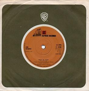 jimi hendrix singles vinyls/rock me baby 1973