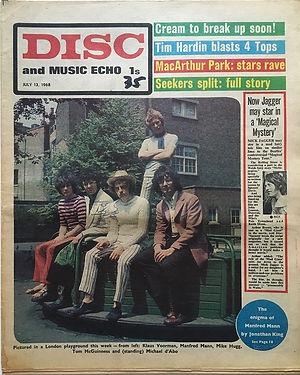 jimi hendrix newspapers/disc music echo july 13 1968