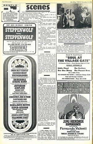 jimi hendrix newspaper1968/the village voice november 21 1968
