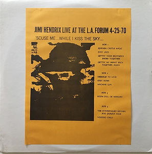 jimi hendrix bootlegs vinyls albums 1970 /live at the forum 4-25-70 pod records
