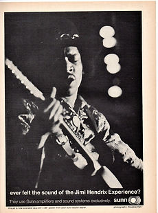 jimi henrix magazine 1968/sunn ad/down beat june 1968