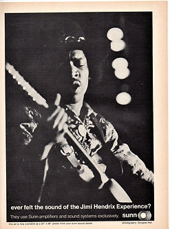 jimi hendrix magazine 1968/ hit parader october 1968 sunn ad