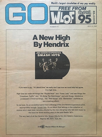 jimi hendrix newspaper 1969/go july 11 1969 : smash hits