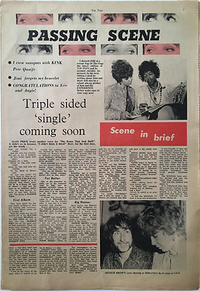 jimi hendrix collector newspapers/top pops N°6/ 9/1967