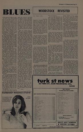 jimi hendrix newspapers 1969 / woodstock revised november 14, 1969