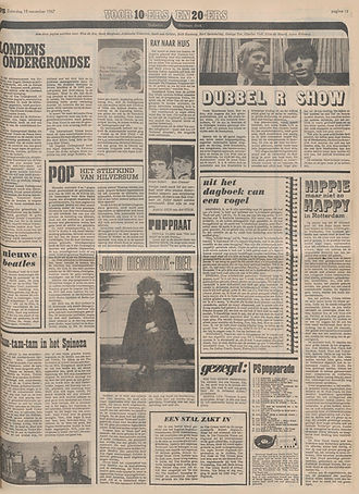 jimi hendrix newspapers 1967 / het parool  nov.18, 1967
