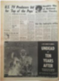 jimi hendrix newspapers/melody maker  august 17 1968/hendrix film at national film theatre