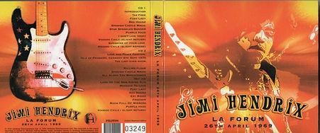 jimi hendrix bootleg cd album/la forum 26th april 1969