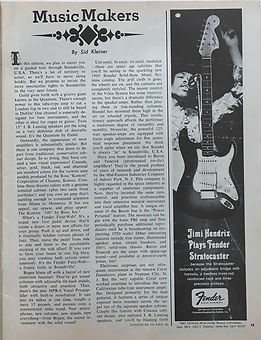 jimi hendrix magazine /hullabaloo september 1968