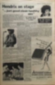 jimi hendrix newspaper 1968/go set december 4 1968