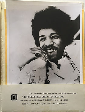 jimi hendrix memorabilia 1969/kit press 1969