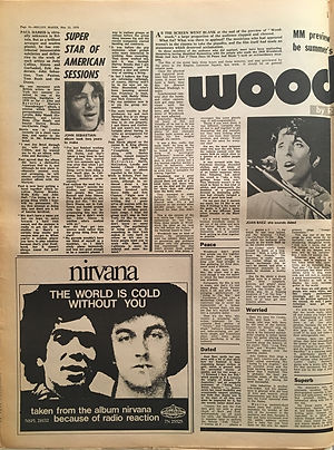 jimi hendrix newspapers 1970 / melody maker may 23, 1970