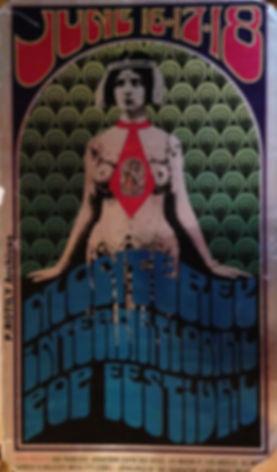 jimi hendrix rotily patrick memorabilia/poster monterey pop festival 67