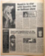 jimihendrix newspaper 1968/dis music echo november 2 1968