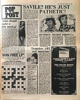 jimi hendrix collector newspapers/disc music echo/23/9/67 hendrix:secret formula