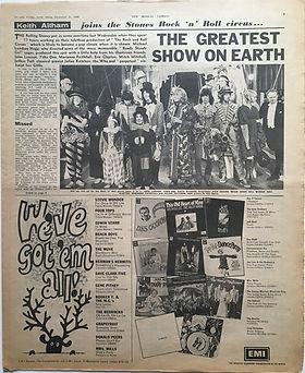 jimi hendrix newspaper 1968 / new musical express december 21 1968