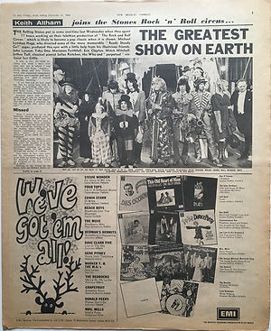 jimi hendrix newspaper 1968 / new musical express december 21 1968