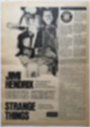 jimi hendrix newspaper 1968 /record mirror/ november 2 1968