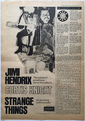 jimi hendrix newspaper 1968 /record mirror/ november 2 1968