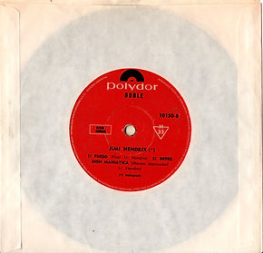 jimi hendrix collector EP vinyls 45r/EP crosstown traffic/sideB fire/manic depression/polydor argentina 1969