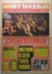 jimi henrix newspaper 1968 / hit week november 15 1968