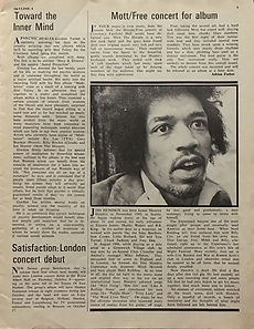 jimi hendrix magazines 1970 death/ skyline music review : october 2, 1970