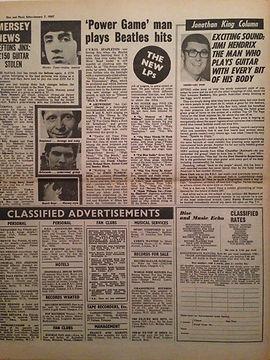 jimi hendrix newspapers collector 1967 /  disc music echo 1967