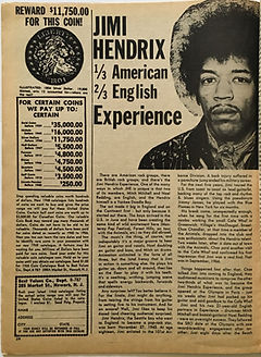 jimi hendix collector magazine/ song hits december 1967/jimi hendrix 1/3american 2/3english experience