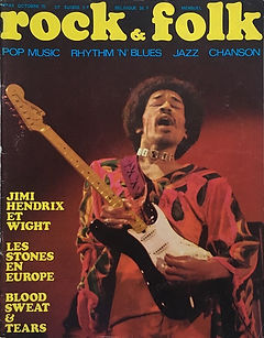 jimi hendrix magazines 1970 death/ rock & folk : october 1970