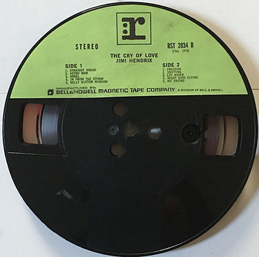 jimi hendrix reel to reel collector/cry of love reprise/bell & howell tape company