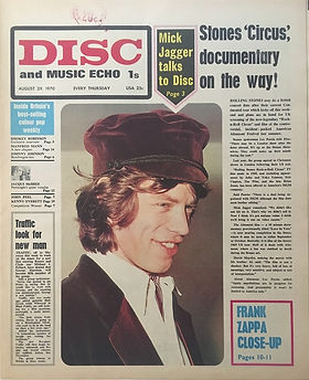 jimi hendrix newspaper 1970 /disc music echo  august 29, 1970 / ad : isle of wight festival
