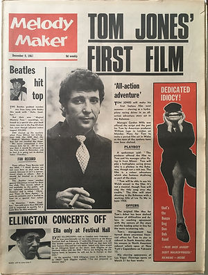 jimi hendrix newspaper collector/melody maker  9/12/1967