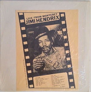 jimi hendrix rotily vinyl collector lp/live from monterey