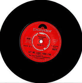 jimi hendrix collector singles vinyls 45r/let me light your fire side1/turkey polydor 1969