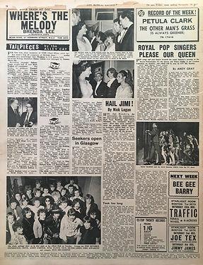 jimi hendrix collector newspaper/Hail jimi/new musical express 18/11/67