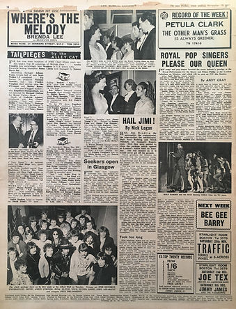 jimi hendrix collector newspaper/Hail jimi/new musical express 18/11/67