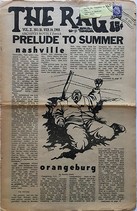 jimi hendrix newspaper/the rag houston/austin february 19 1968