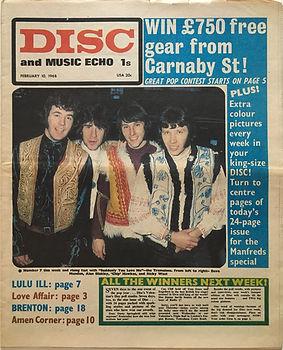 jimi hendrix newspaper/disc music echo 10/2/68