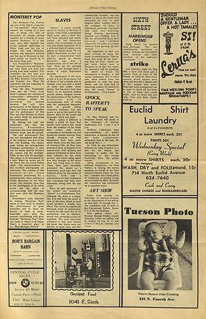 jimi hendix newspapers 1969/ free press : oct:1-8,  1969