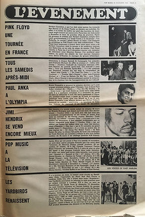 jimi hendrix newspapers 1970 / pop music november 26,  1970