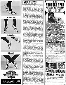 magazine collector rotily hendrix/salut les copains 7/67