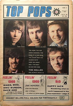 jimi hendrix collector newspaper/top pops november 7 1967 feelin'good / jimi hendrix