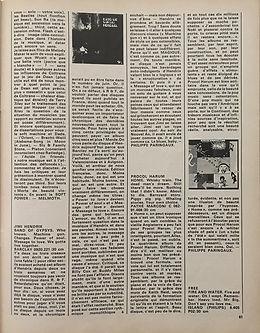 jimi hendrix magazines 1970 / rock & folk  august  1970  review : band of gypsys